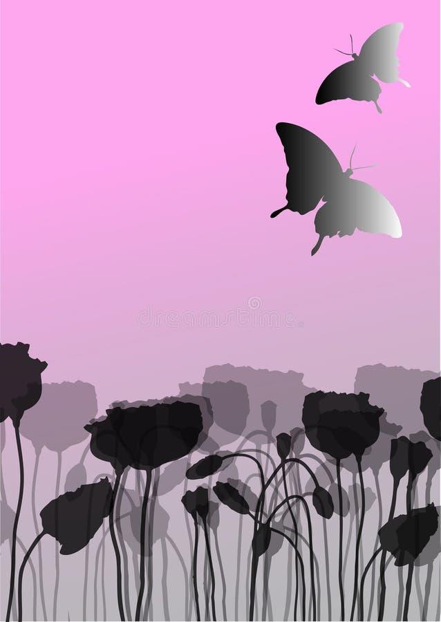 vecteur de pavot d'illustration de fleur illustration libre de droits