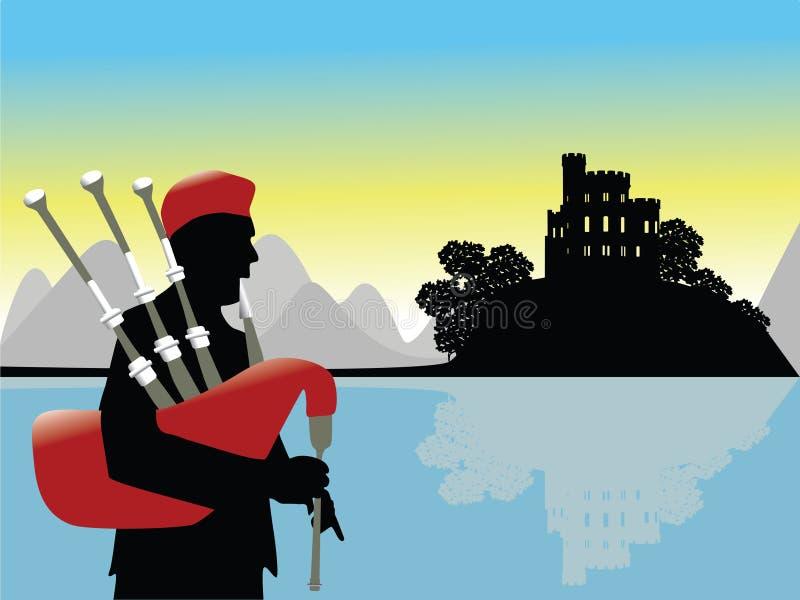 Vecteur de paysage de l'Ecosse illustration libre de droits