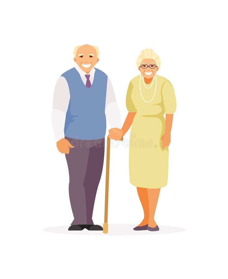 Vecteur de personnes âgées illustration de vecteur