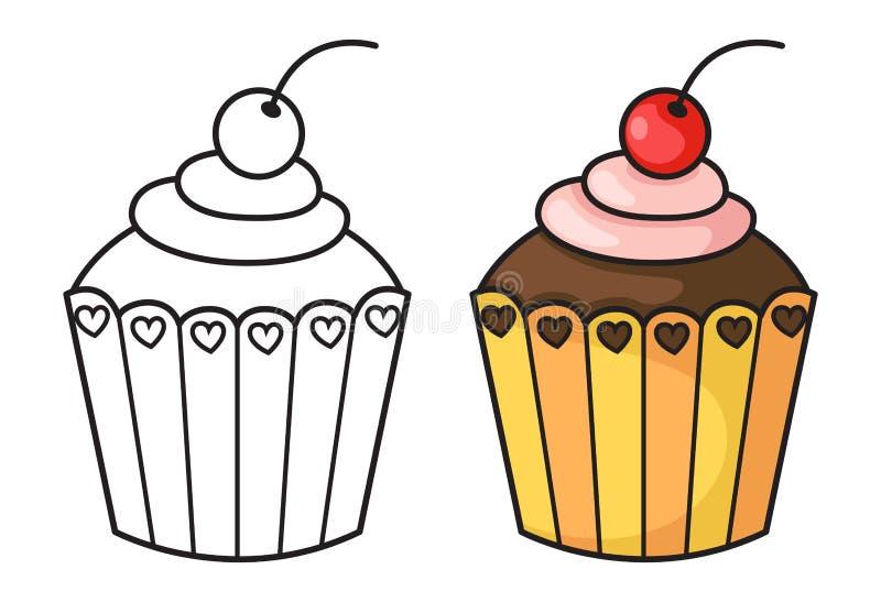 Vecteur de petit gâteau illustration libre de droits