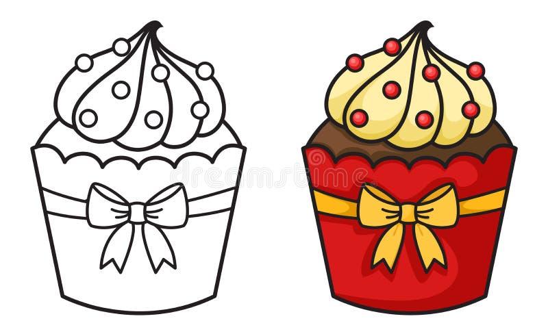 Vecteur de petit gâteau illustration stock