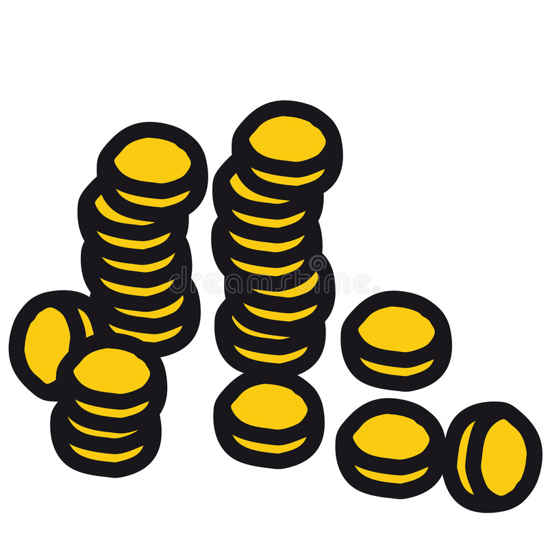vecteur de pièce de monnaie illustration stock