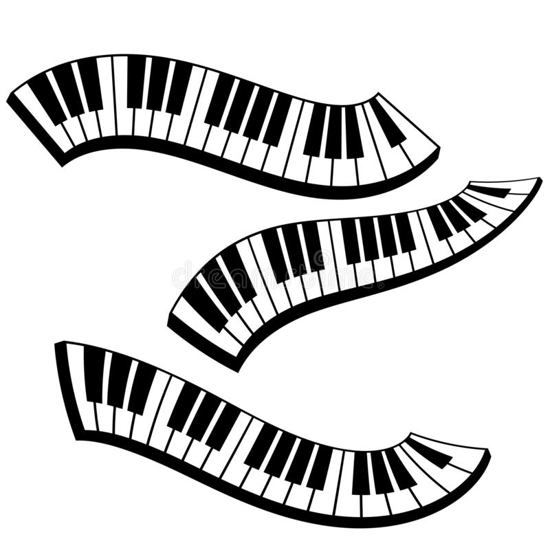 Vecteur de piano de clavier de courbe illustration libre de droits