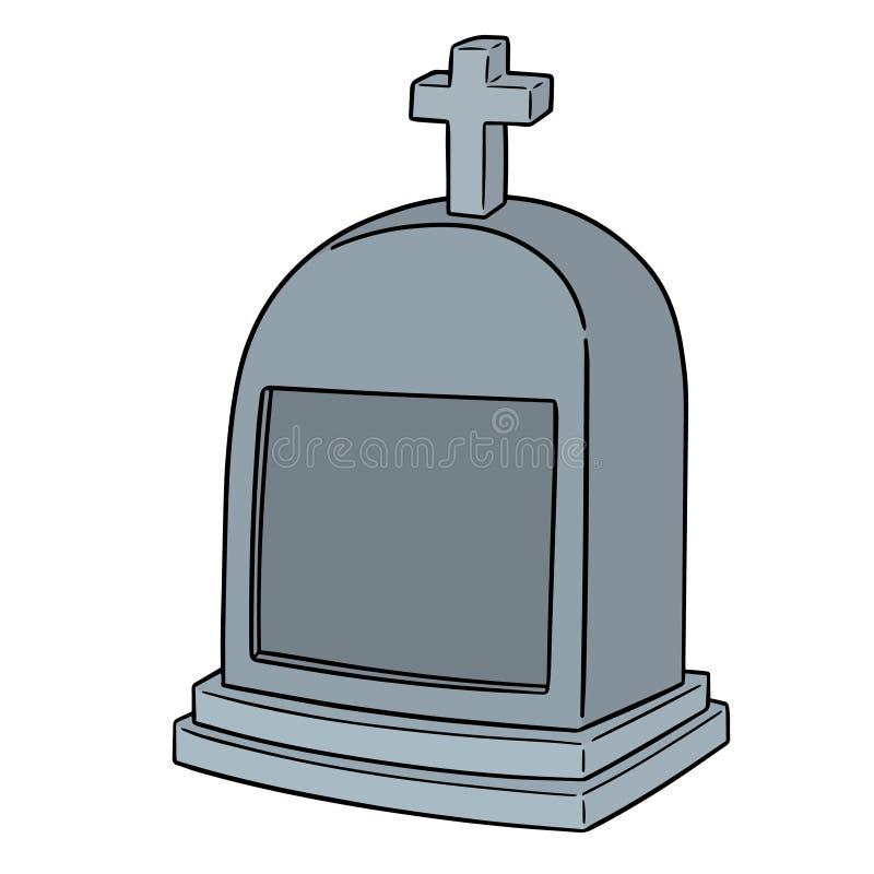 Vecteur de pierre tombale illustration de vecteur