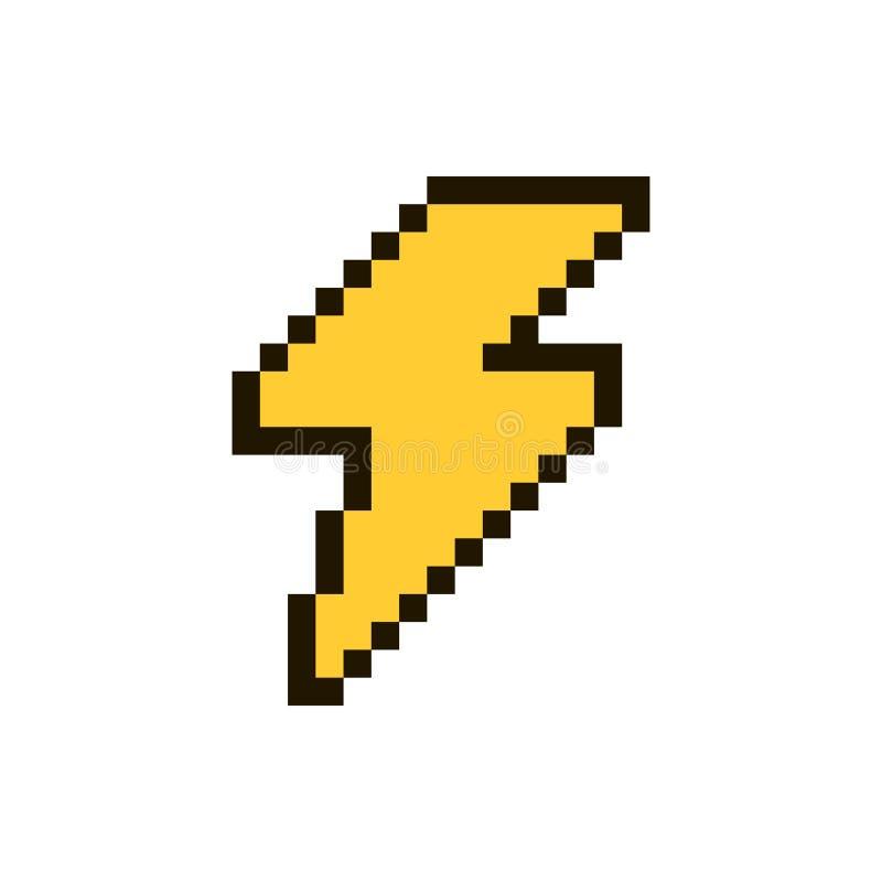Vecteur de pixel de foudre illustration libre de droits