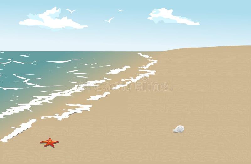 Vecteur de plage illustration de vecteur
