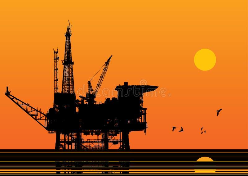 Vecteur de plateforme pétrolière illustration libre de droits