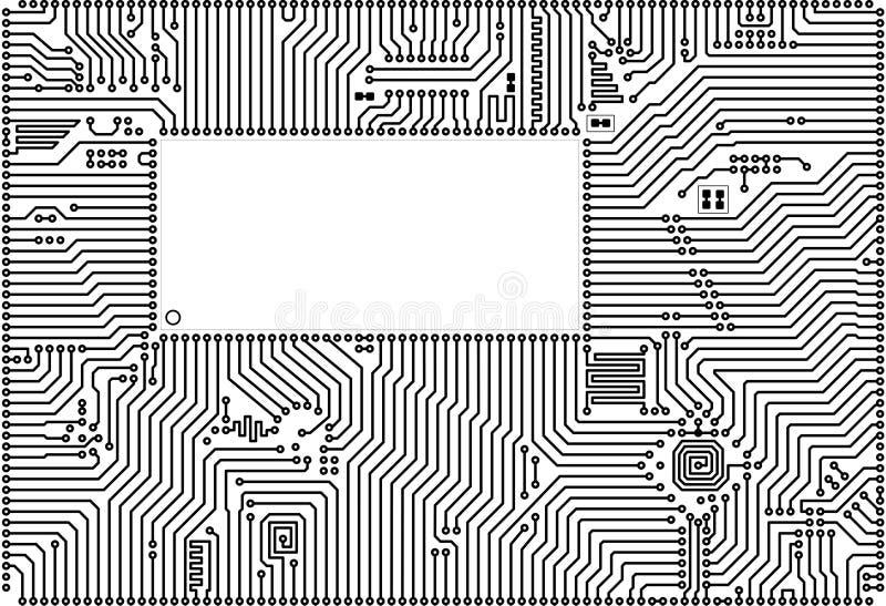 vecteur de pointe de trame de circuit de panneau illustration libre de droits