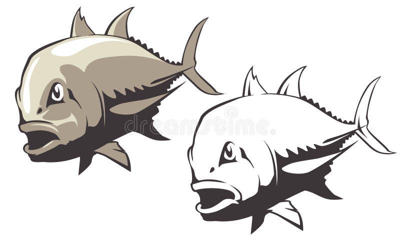 Vecteur de poissons de Trevally de géant photo libre de droits