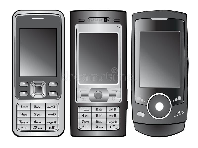 Vecteur de téléphone portable illustration de vecteur