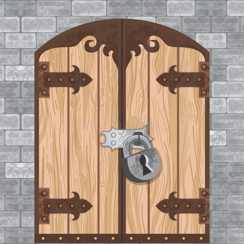 Vecteur de porte de château illustration libre de droits