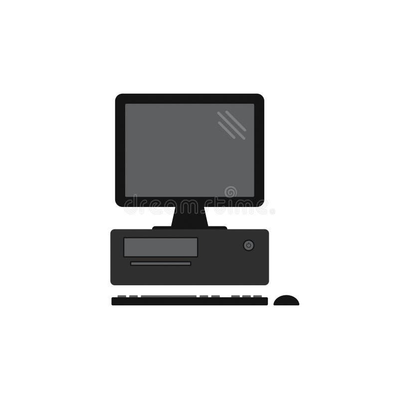 Vecteur 1 de poste de travail d'ordinateur de bureau illustration de vecteur