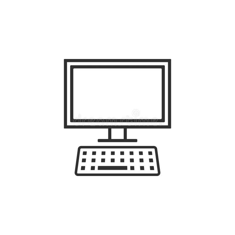 Vecteur 3 de poste de travail d'ordinateur de bureau illustration libre de droits
