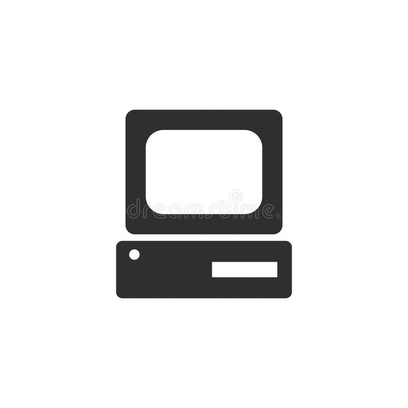 Vecteur 8 de poste de travail d'ordinateur de bureau illustration de vecteur