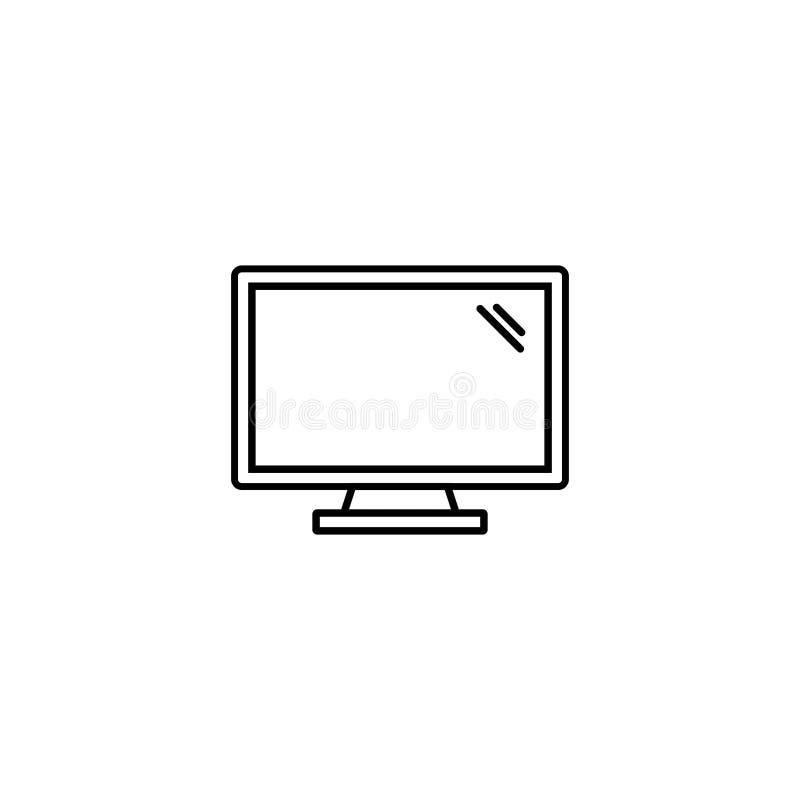 Vecteur 6 de poste de travail d'ordinateur de bureau illustration libre de droits