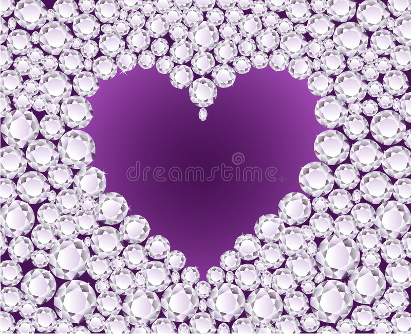 vecteur de pourpre de coeur de diamant de fond illustration stock