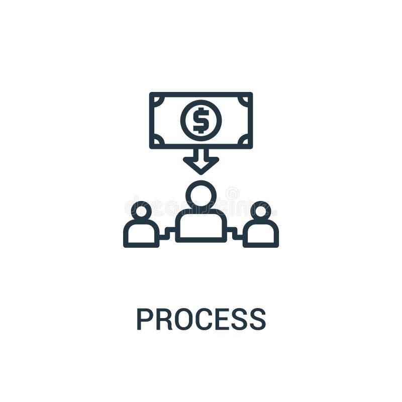 vecteur de processus d'icône de collection de seo Ligne mince illustration de vecteur d'icône d'ensemble de processus Symbole lin illustration de vecteur