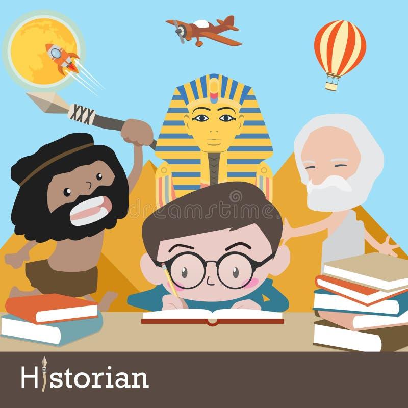 Vecteur de profession d'historien illustration de vecteur