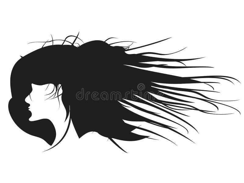 Vecteur de profil de coiffure de femme de couleur illustration stock