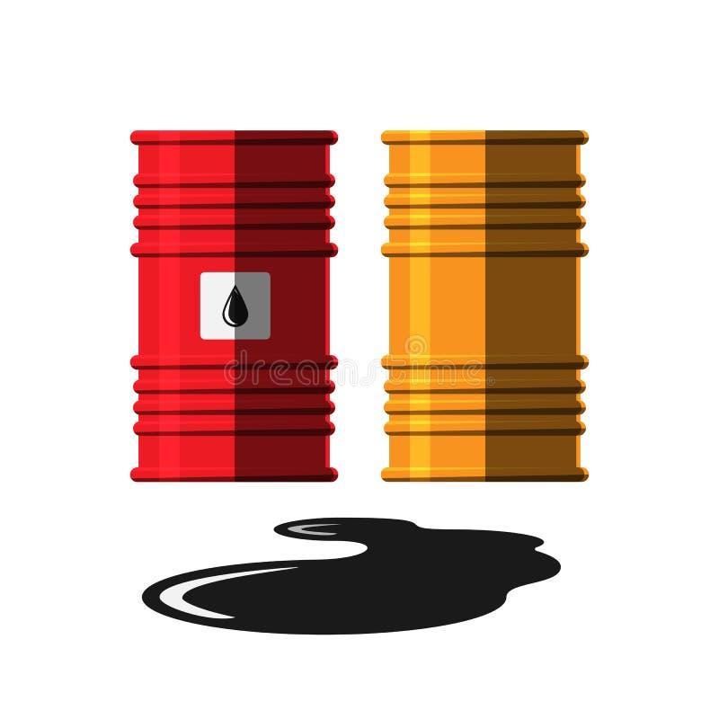 Vecteur de réservoir de capacité de tonneau à huile illustration libre de droits