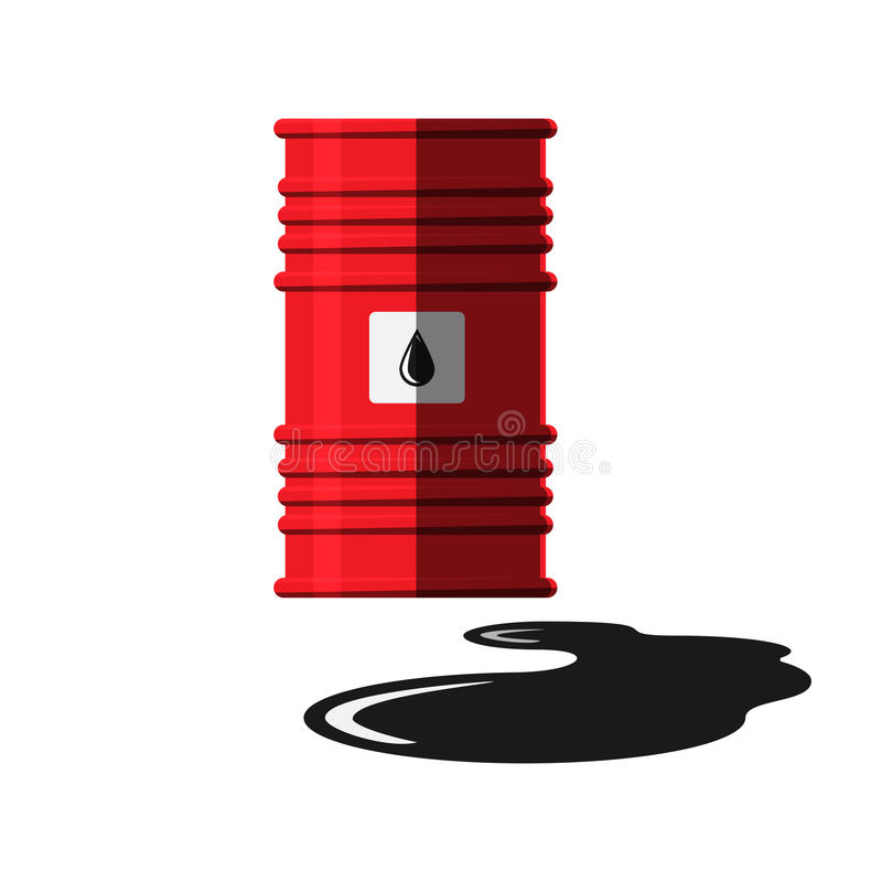 Vecteur de réservoir de capacité de tonneau à huile illustration de vecteur