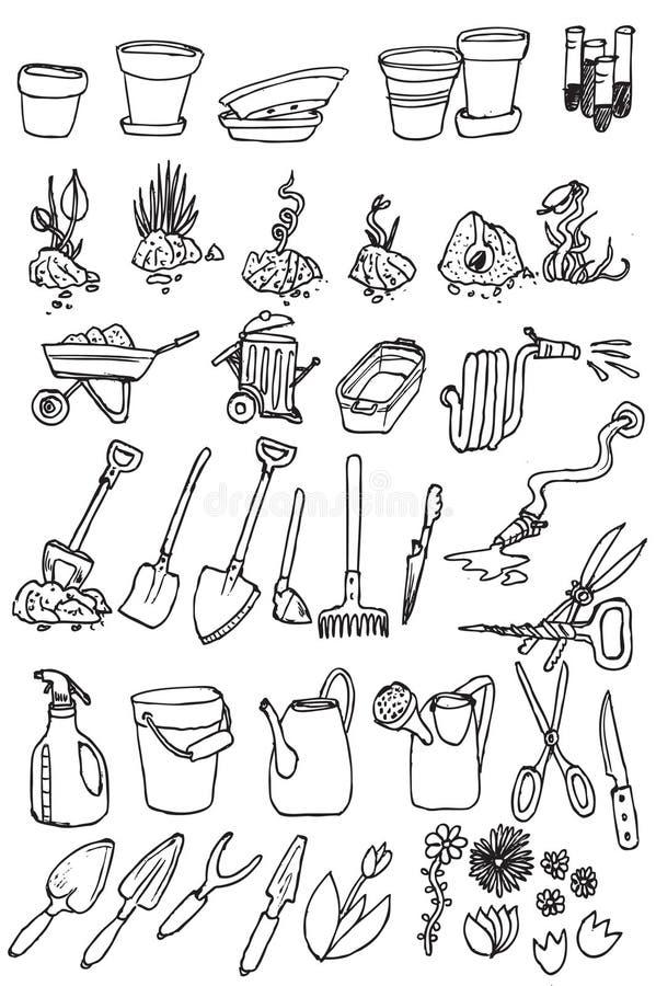 Vecteur de ramassage de graphisme de jardin d'attraction de main illustration de vecteur