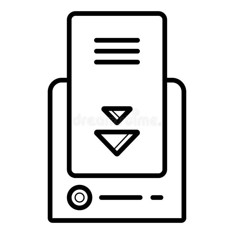Vecteur de remplissage sans fil d'icône illustration libre de droits