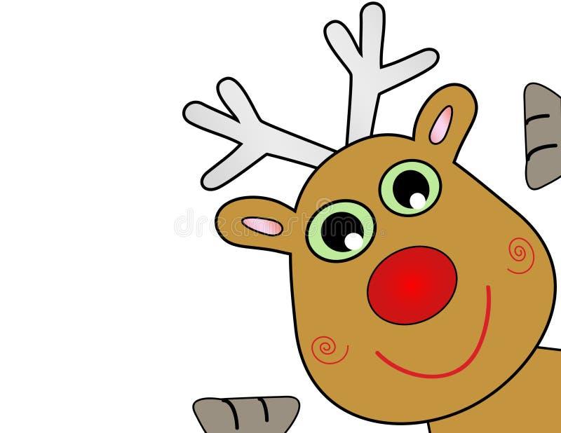 vecteur de renne de Noël illustration stock