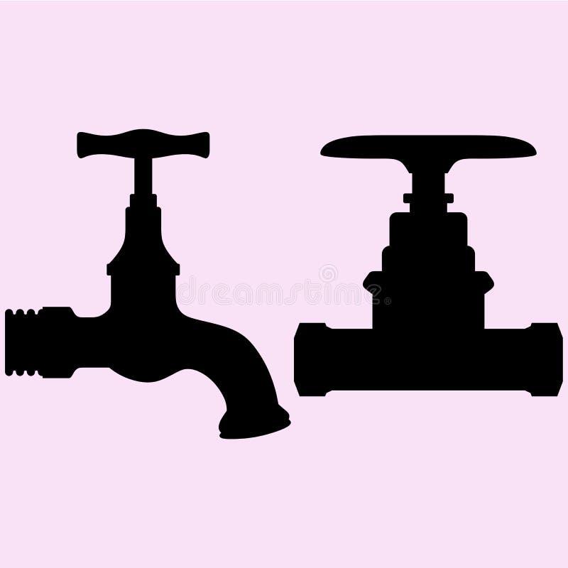 Vecteur de robinet d'eau illustration stock