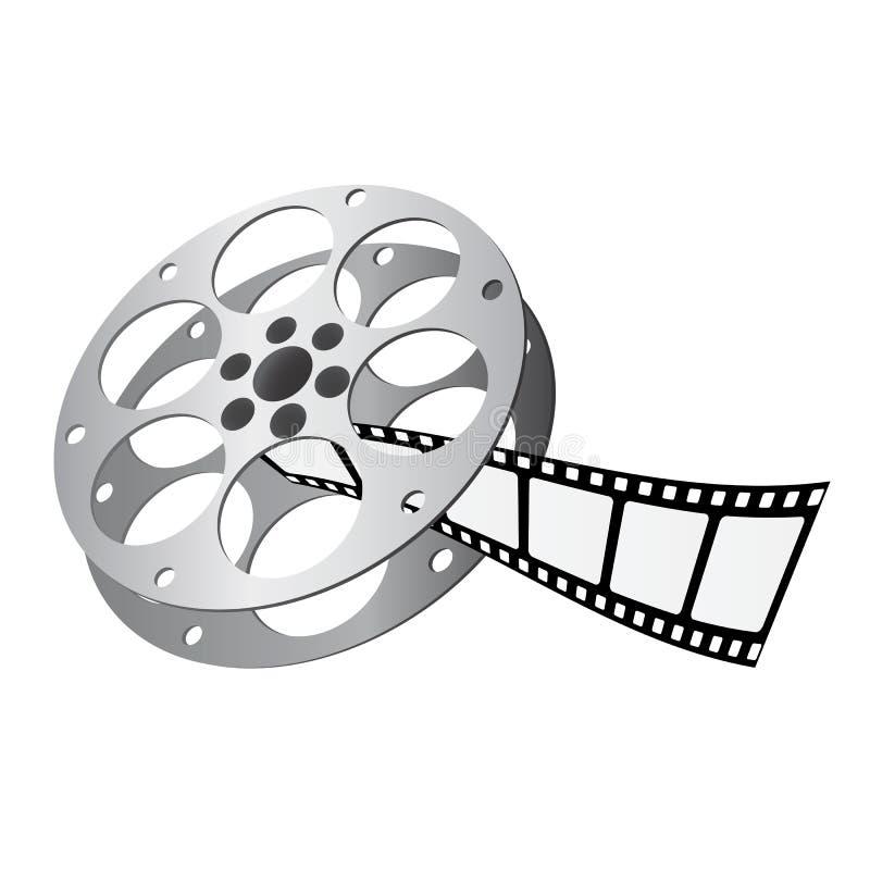 Vecteur de roulis de film illustration stock