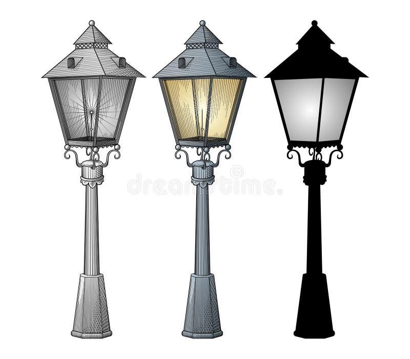 Vecteur de rue de lampe