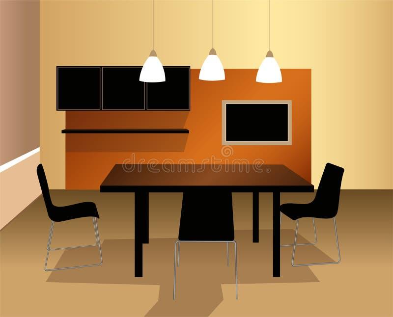 Vecteur de salle à manger illustration de vecteur