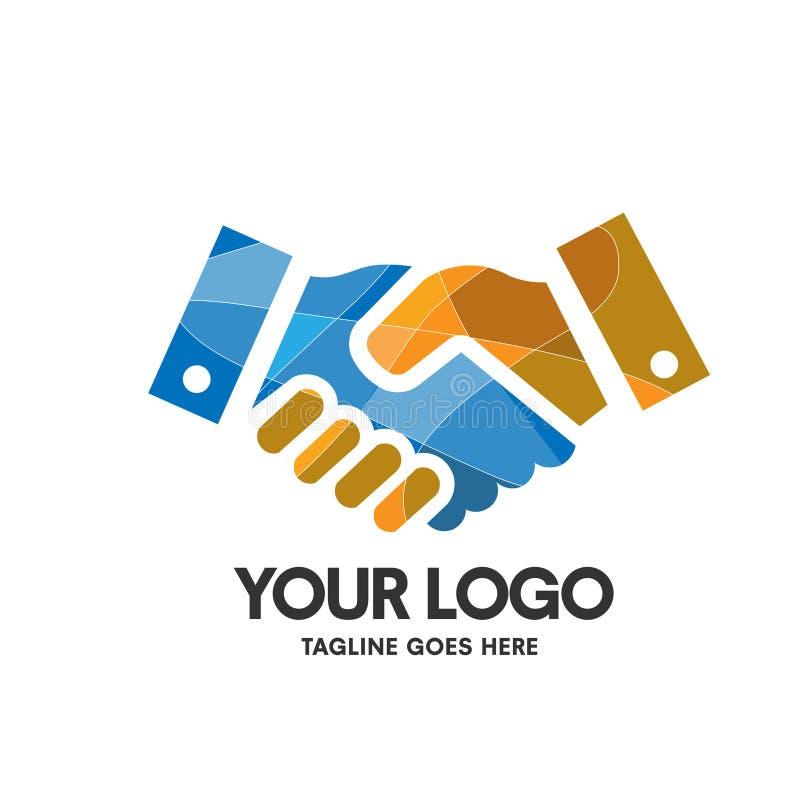 Vecteur de secousse de logo de main créative illustration stock