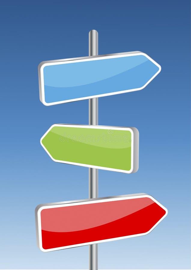 vecteur de signaux de la direction 3d illustration stock