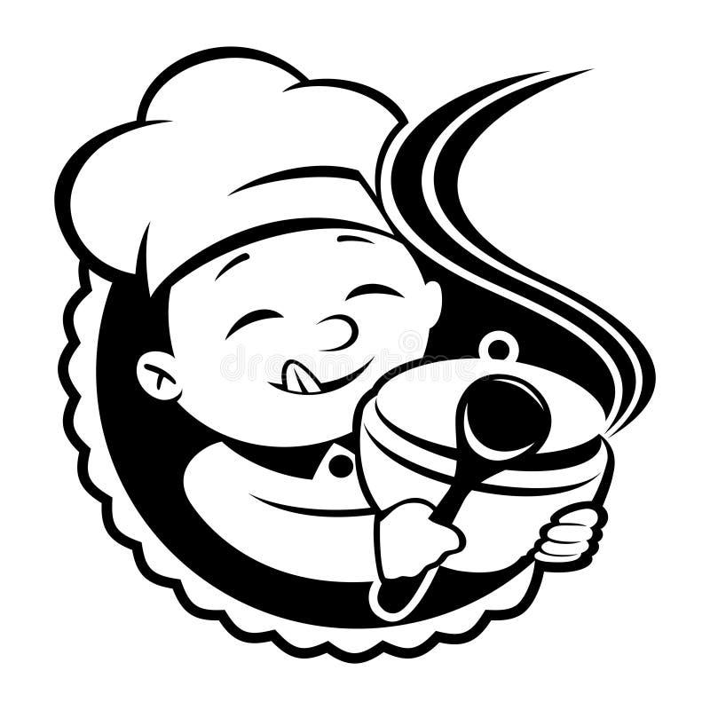 vecteur de signe cuisinier illustration stock