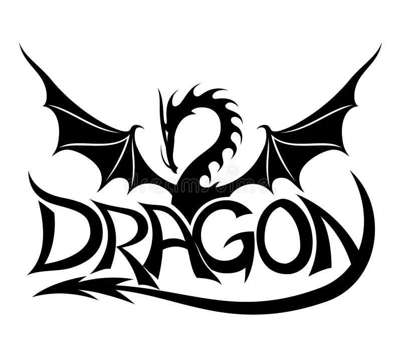 vecteur de signe Dragon illustration stock