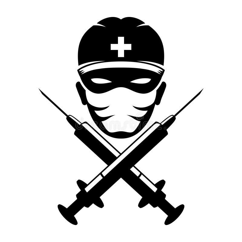 vecteur de signe médecin illustration stock