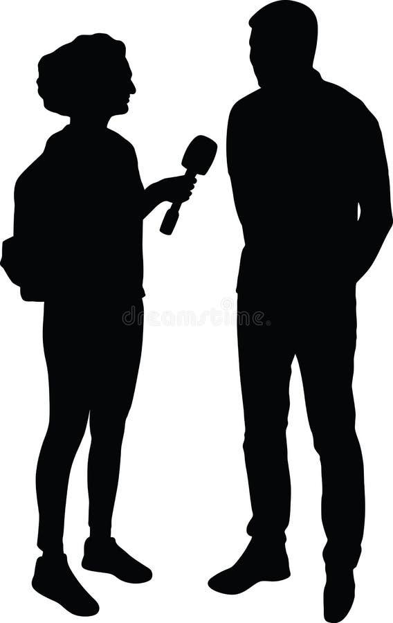Vecteur de silhouette d'entrevue photos libres de droits