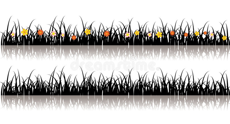 vecteur de silhouette d'herbe illustration de vecteur