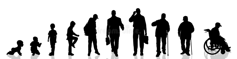 vecteur de silhouette d'homme illustration de vecteur