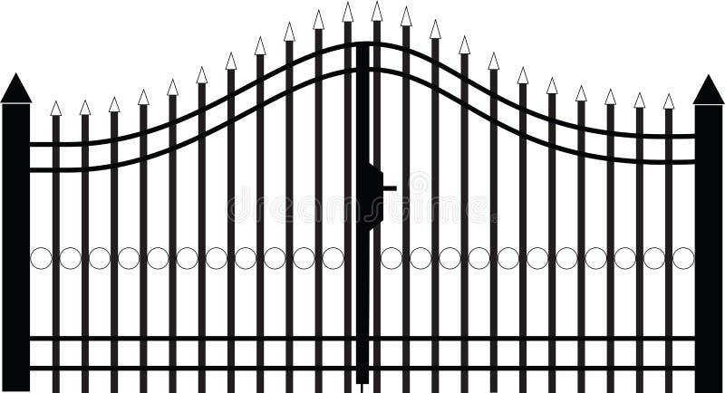 Vecteur de silhouette de porte image stock
