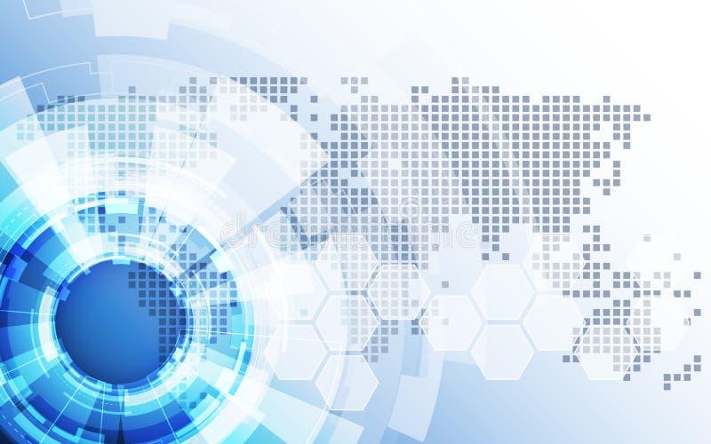 Vecteur de solution de technologie de fond d'abrégé sur affaires globales illustration libre de droits