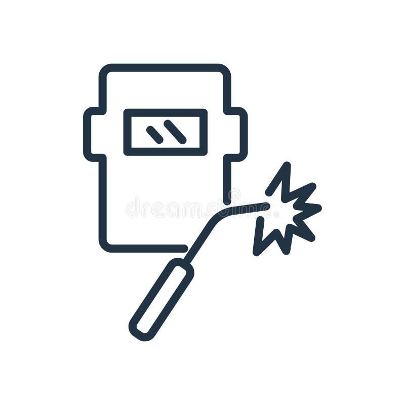 Vecteur de soudure d'icône d'isolement sur le fond blanc, signe de soudure illustration libre de droits