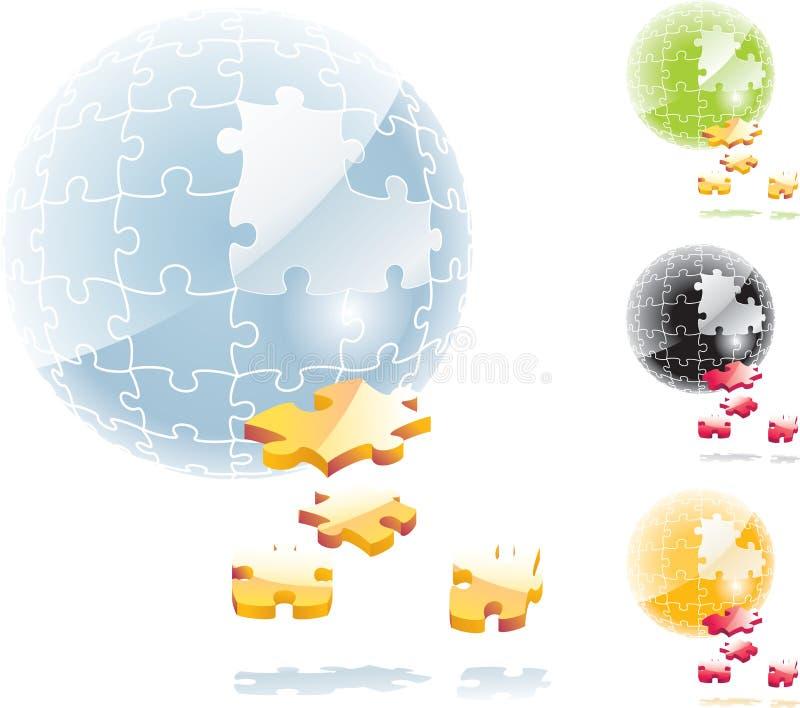 vecteur de sphère de puzzle denteux illustration de vecteur