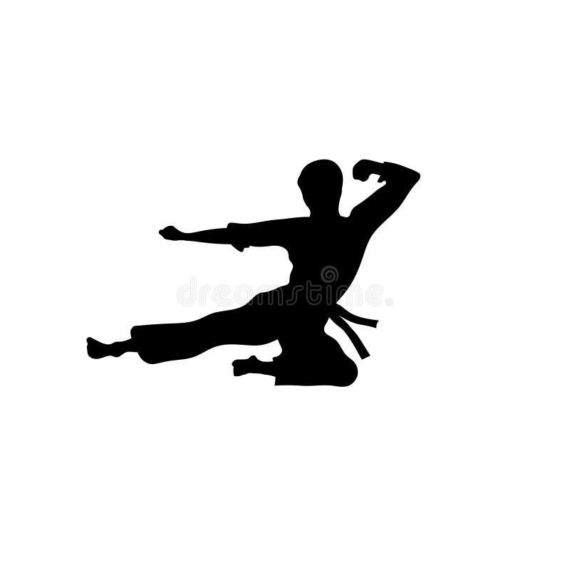Vecteur de sport de karaté illustration stock