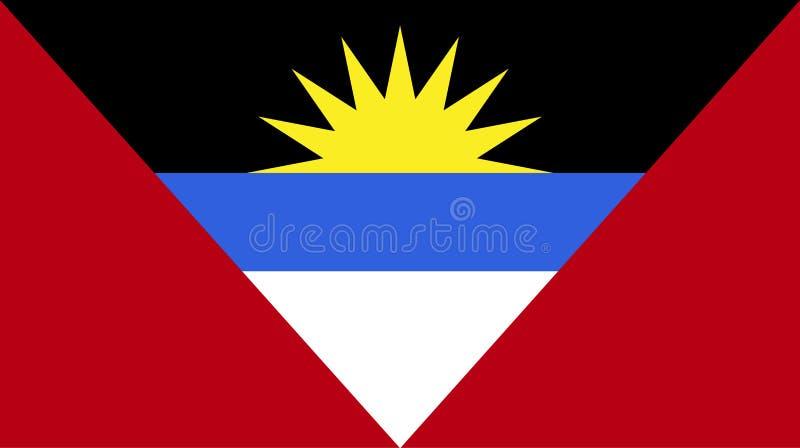 Vecteur de stupéfier le drapeau de l'Antigua-et-Barbuda Drapeaux des ressortissants de W illustration libre de droits