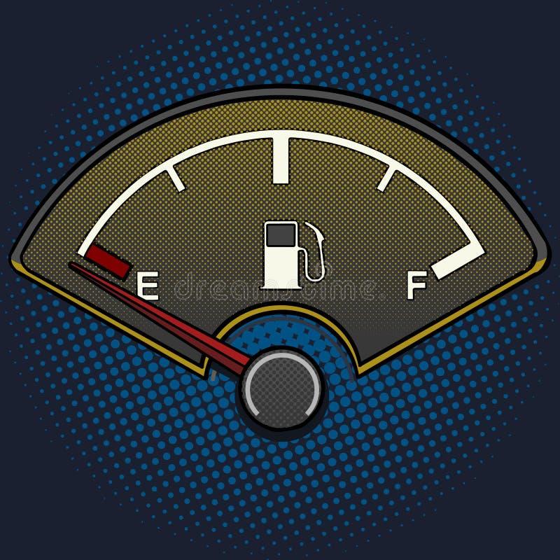 Vecteur de style d'art de bruit de jauge de carburant illustration stock