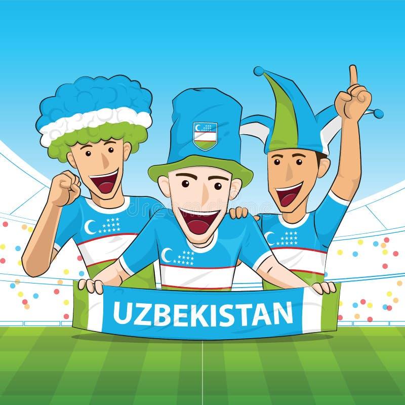 Vecteur de supporter de l'Ouzbékistan illustration de vecteur