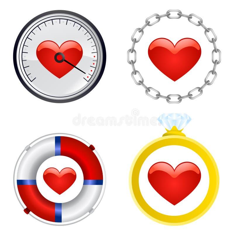Vecteur d ensemble de symbole de coeur