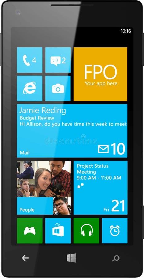 Vecteur de téléphone de Windows illustration stock